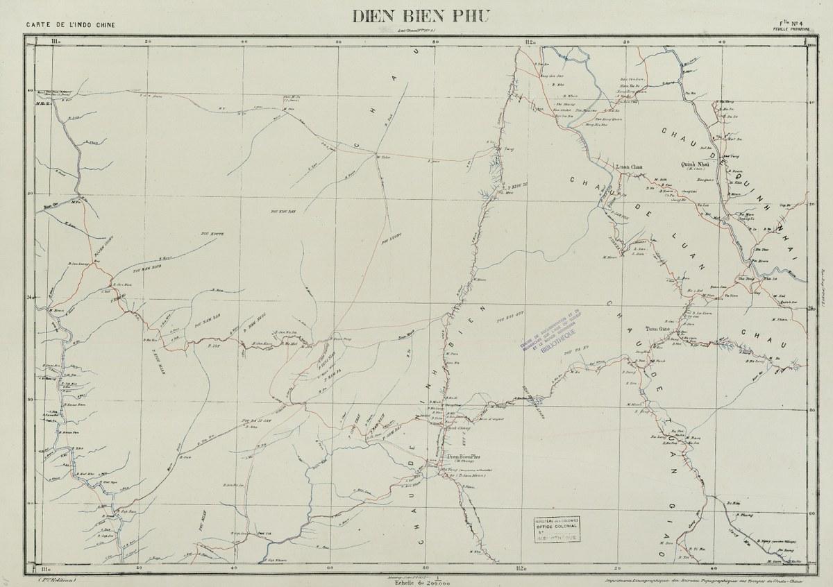 Carte de l'Indochine