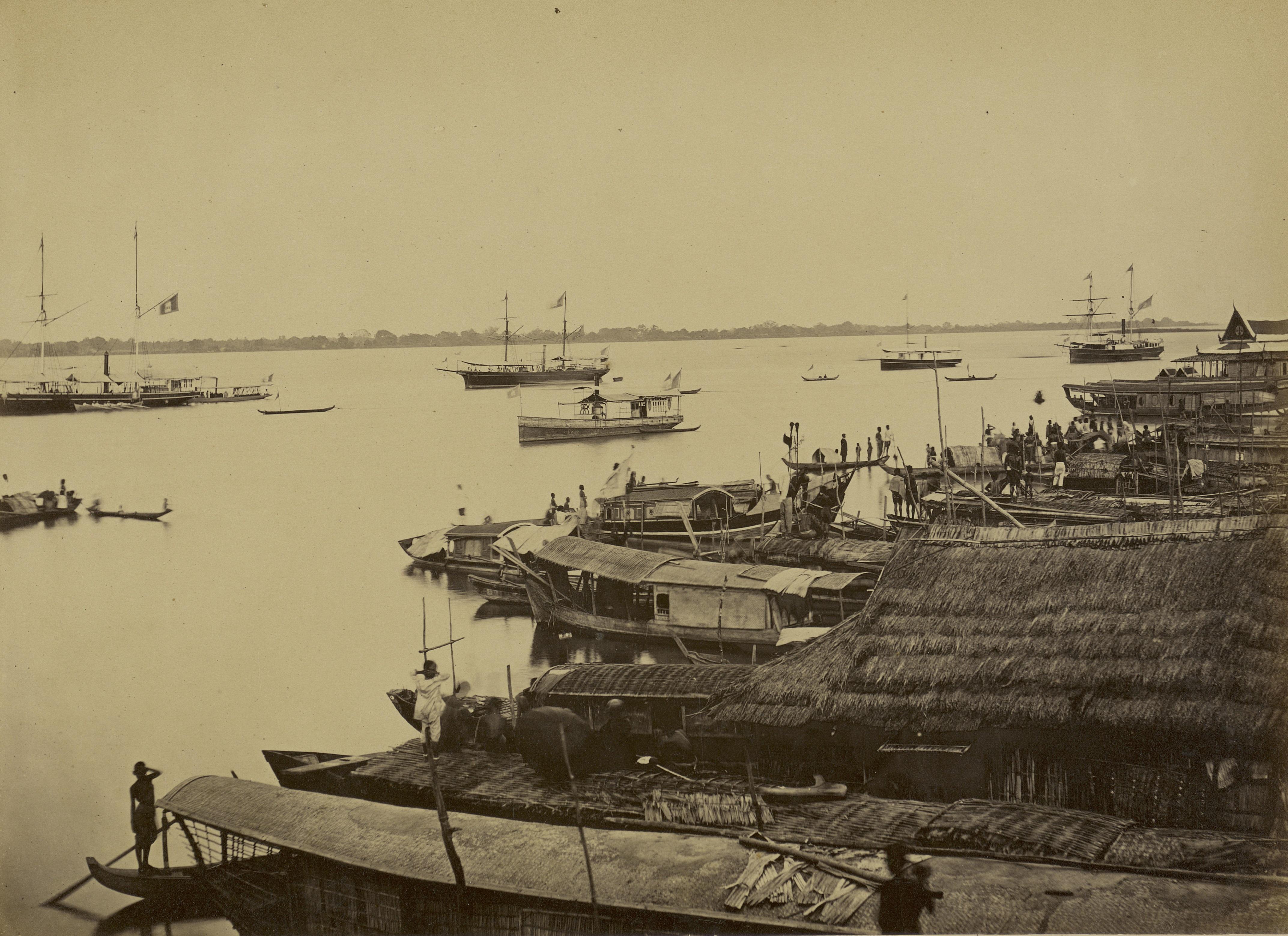 Sur le mékong, en rade de Phnom Penh, 1866